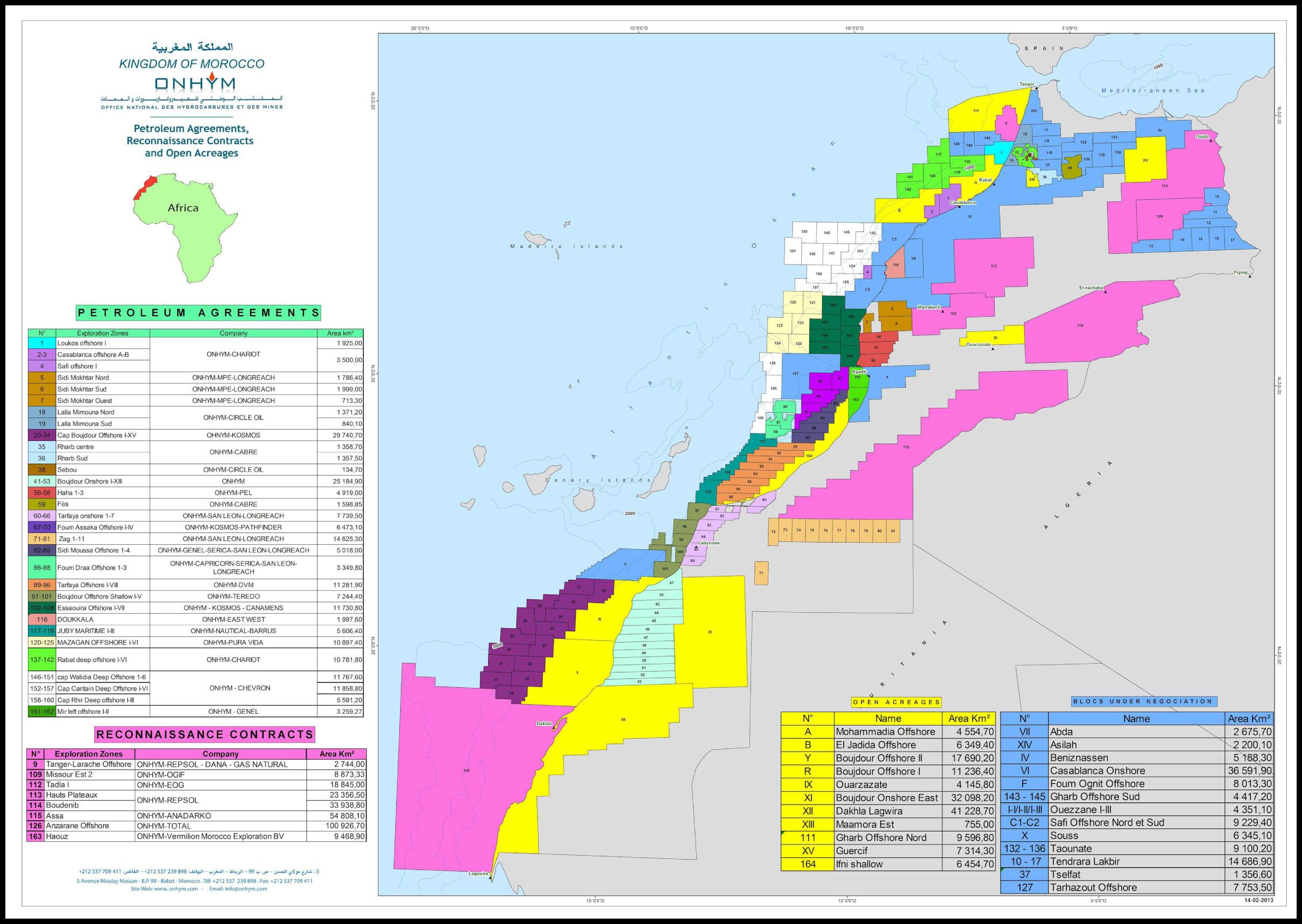 Morocco Western Sahara No Oil Canarias - Western sahara map